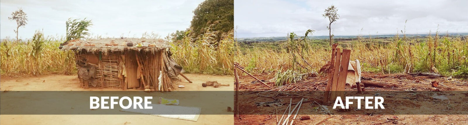 Cyclone Idai Relief Before and After5